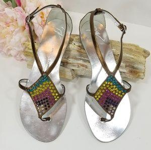 Giuseppe Zanotti design crystal gladiator sandals